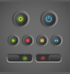 Blinking buttons vector