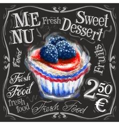 Sweet dessert logo design template fresh vector