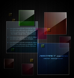Glass square background vector