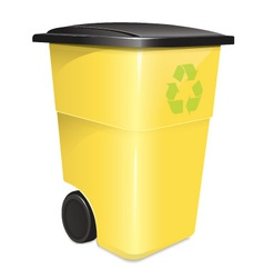 Garbage container vector