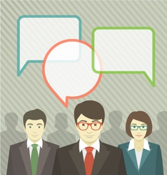 Business team with speech bubbles vector