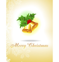 Christmas golden bells vector