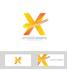 Letter x extreme logo vector