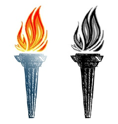 Burning torch vector