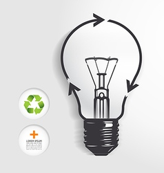 Recycle light bulb concept vector