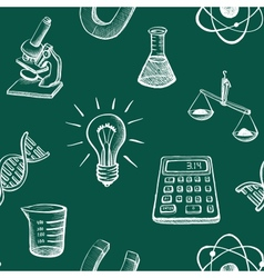 Science icons sketch vector