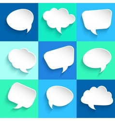 Set of speech bubbles on colorful background vector
