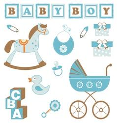 Baby boy toys vector