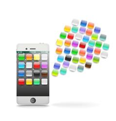 Modern touchphone gadget vector