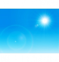 Sun on a clear sky vector