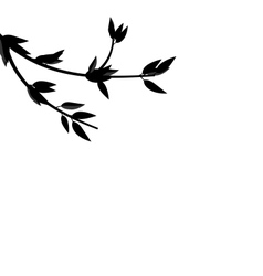 Black silhouette branch tree with leafs vector