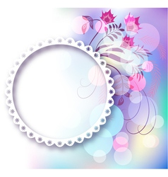 Photo frame and floral ornament vector