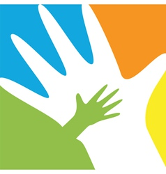 Child and parent hands vector