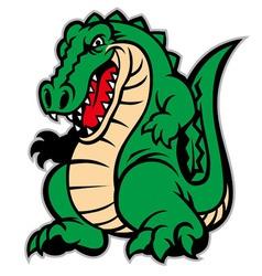 Crocodile mascot vector