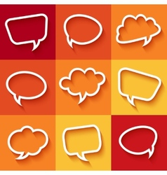Set of flat speech bubbles vector