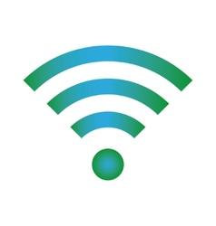 Wifi icon blue green color vector