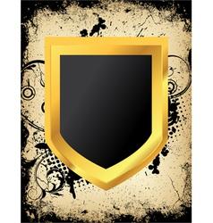 Grunge shield vector