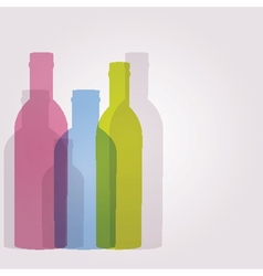 Abstract background with glass bottles vector