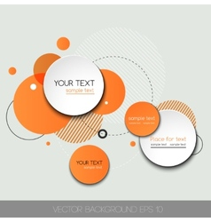 Modern design circle template vector