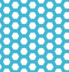 Seamless blue hexagon pattern vector