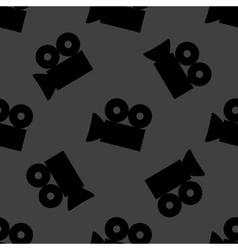 Video-camera web icon flat design seamless gray vector