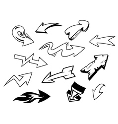 Set of doodle arrows icons vector