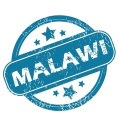 Malawi round stamp vector