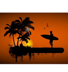 Surfing poster vector