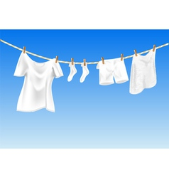 Drying clothes vector