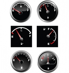 Fuel gauge vector