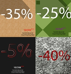 25 5 40 icon set of percent discount on abstract vector