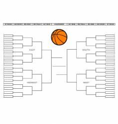 College basketball tournament bracket vector