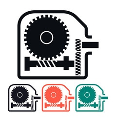 Worm gear reducer icon vector