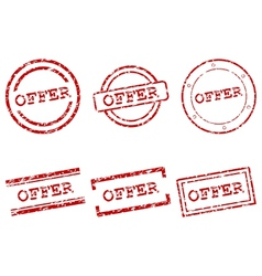 Offer stamps vector