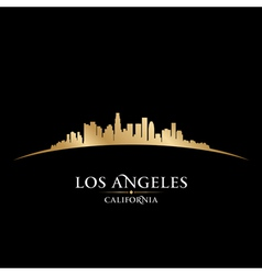 Los angeles california city skyline silhouette vector