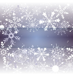 Winter snowflake background with copy space vector