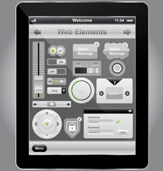 Web and mobile interface vector