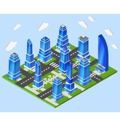 Office city center industry planning vector