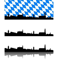 Silhouette of straubing bavaria vector
