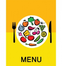 Vegetables in dinner vector