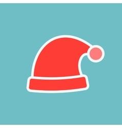 Red santa hats vector