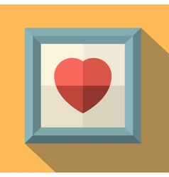 Picture frame with red heart vector
