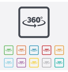 Angle 360 degrees sign icon geometry math symbol vector