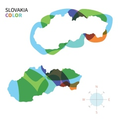 Abstract color map of slovakia vector