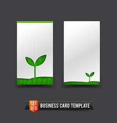 Business card template set 15 ecology concept vector