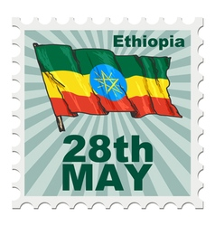 Post stamp of national day of ethiopia vector