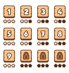 Wooden level selection vector