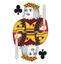 King of clubs no card vector