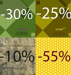 25 10 55 icon set of percent discount on abstract vector