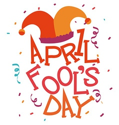 April fools day design vector